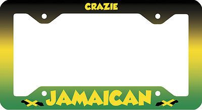 CRAZIE JAMAICAN LICENSE PLATE FRAME