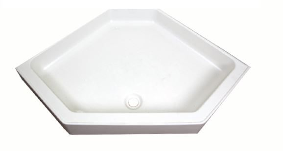 32 Inch Neo Angle Shower Base.Lippert 24x32 Shower Pan Center Drain White In 2019