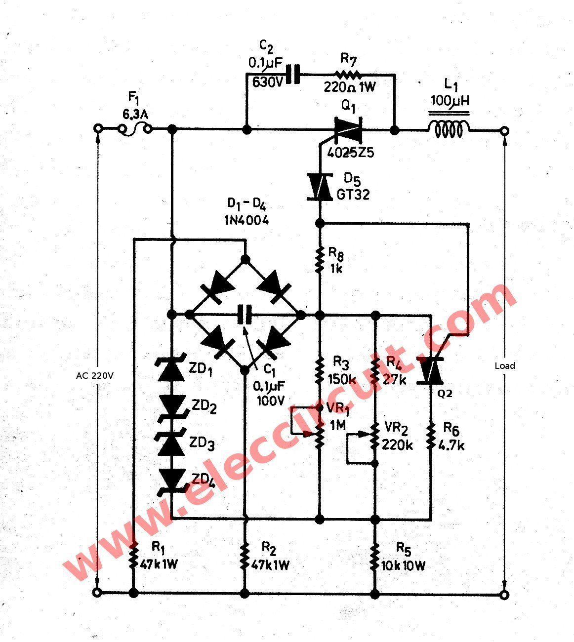 medium resolution of 3000 watts dimmer for inductor load sch my pinterest free circuit diagrams 4u 1w led driver circuit diagram