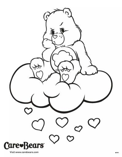 Care Bear Being Annoyed Coloring Kids