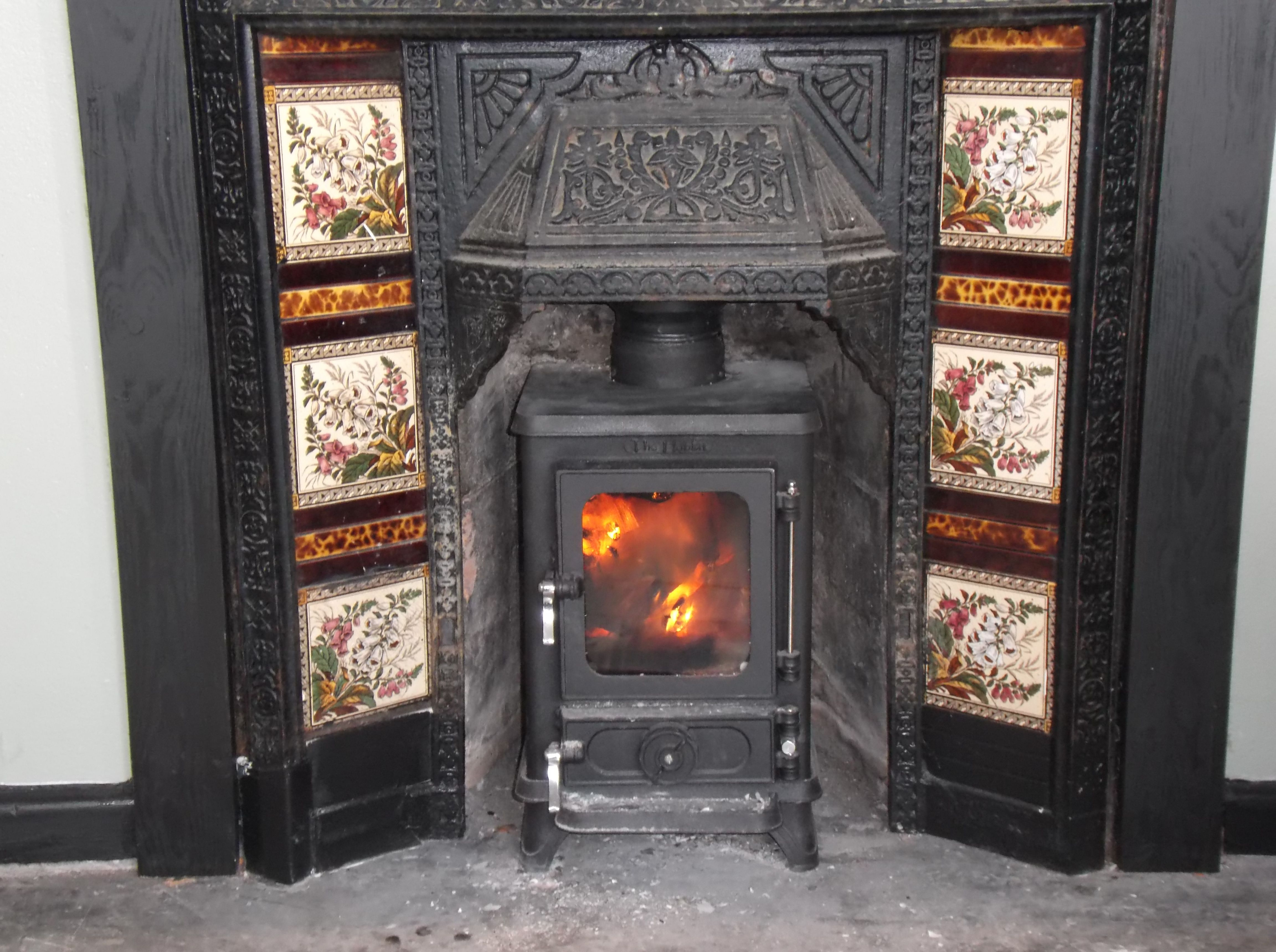 Log Stove Victorian Fireplace Google Search Stove In