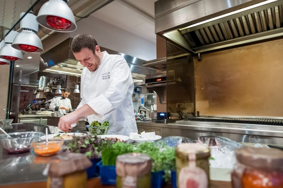 """Our chef Carmine Calò's motto is """"Ingredients and imagination."""" Have you tasted his cuisine yet? Don't miss it at Borsari36!   #LuxuryTravel #Borsari36 #CarmineCalò #DinnerAlFresco"""