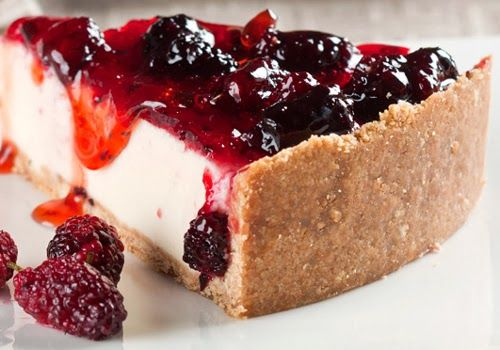 Torta Cheesecake com Amora