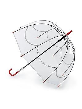 Lulu Guinness Put On Your Pearls Girls Clear Umbrella, Multi, Women - Print - #clearumbrella