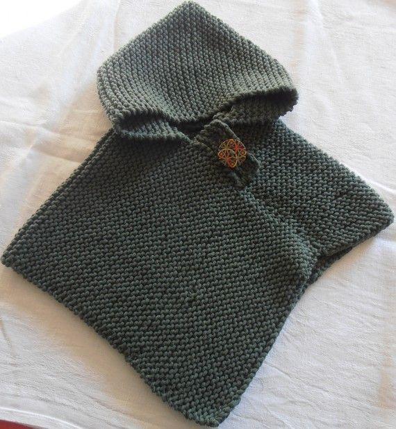 Mod le tricot poncho b b gratuit layette pinterest tricot baby knitting and ponchos - Modele tricot bebe gratuit debutant ...