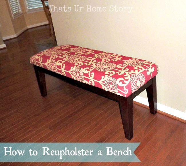How To Reupholster A Bench Reupholster Furniture Furniture Diy