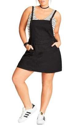 City Chic Denim Pinafore Dress #plussizedresses #plussize #affiliate #fashionstyle