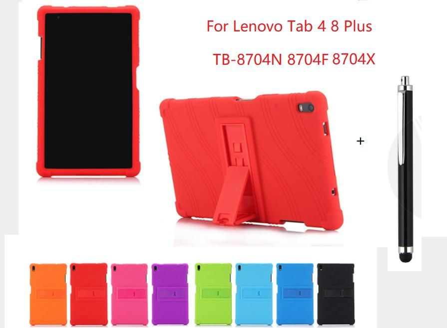 For Lenovo Tab 4 8 Plus Case Soft Silicone Shockproof Back Cover For Lenovo Tab 4 8 Plus Tb 8704n 8704f Tablet Skin Coque Capa With Images Soft Silicone Lenovo Case