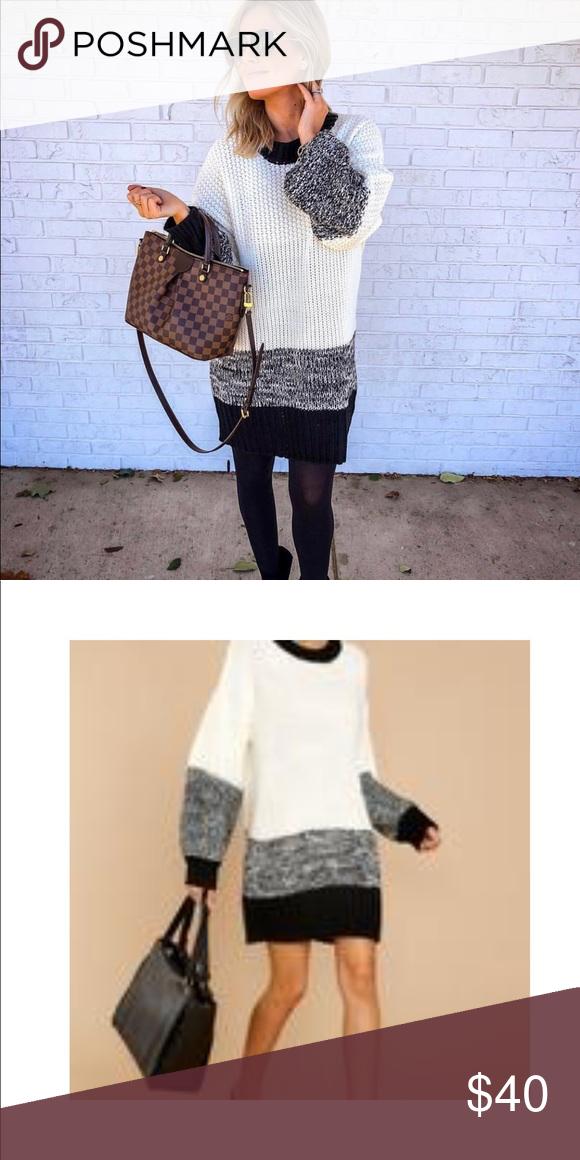 2d60bdc5659 Sweater Dress Colorblock sweater dress! Cozy