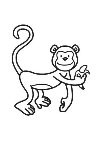 Coloring Page Monkey Animal Drawings Free Coloring Sheets