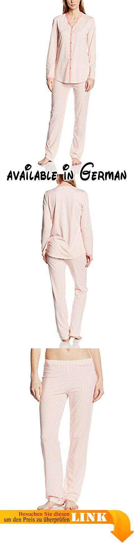 Palmers Damen Schlafanzug Pyjama set Graphic Ornament, Gr. 36  (Herstellergröße: S), Rosa (PAPAYA 491). Der Pyjama aus dem Träume gemacht  sind!