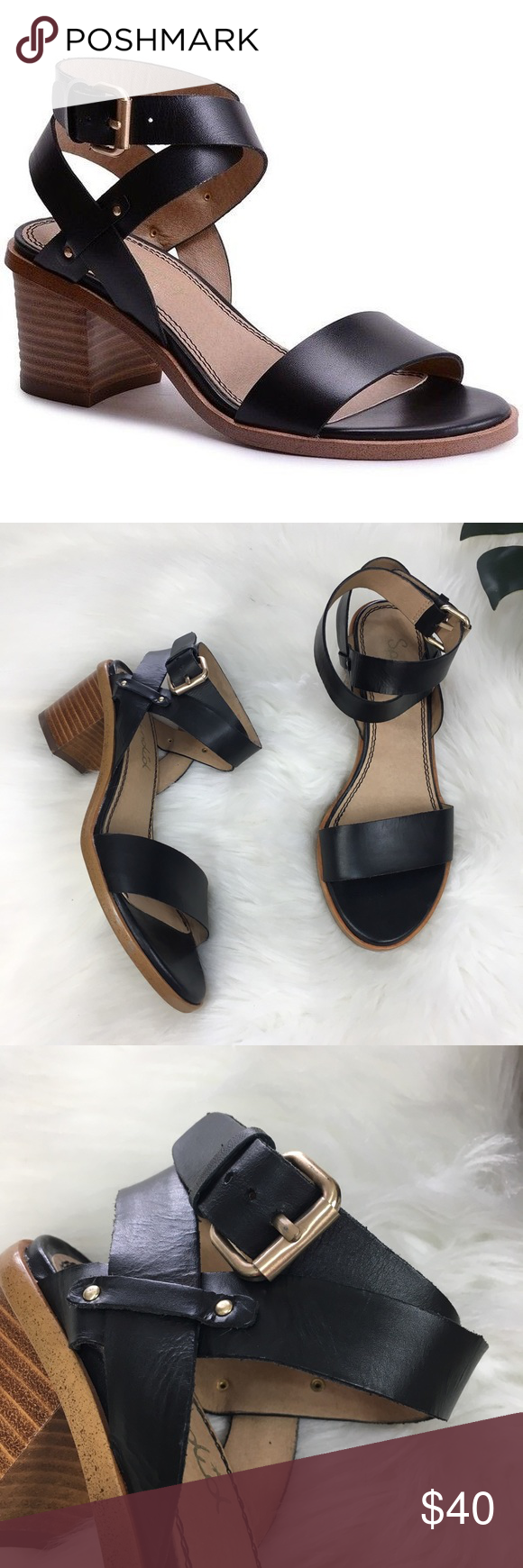 """ed29b9890e1 Splendid Kayman Leather Sandals In excellent pre loved condition Cute  Sandals 👡 2.5"""" Heel A"""