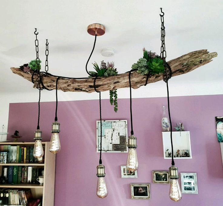 DIY - Which driftwood hanging lamp is the most beautiful? Which one do you build? - wood ideas#beautiful #build #diy #driftwood #hanging #ideas #lamp #wood