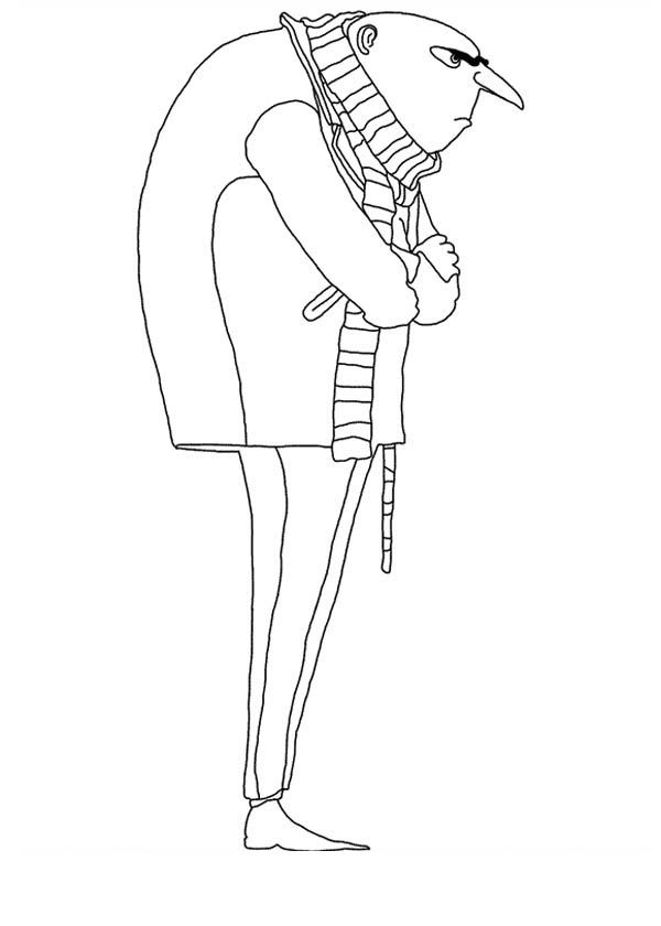 Gru From Despicable Me Coloring Page Coloring Pages Minions