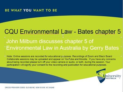 CQU Environmental Law chapter 5 of Environmental Law in Australia by