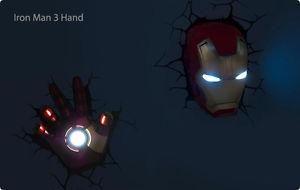 Marvel avengers iron man mask hand 3d wall art deco night light light fx marvel comics super hero deco lights include spider man hulk iron man captain america and thor aloadofball Choice Image
