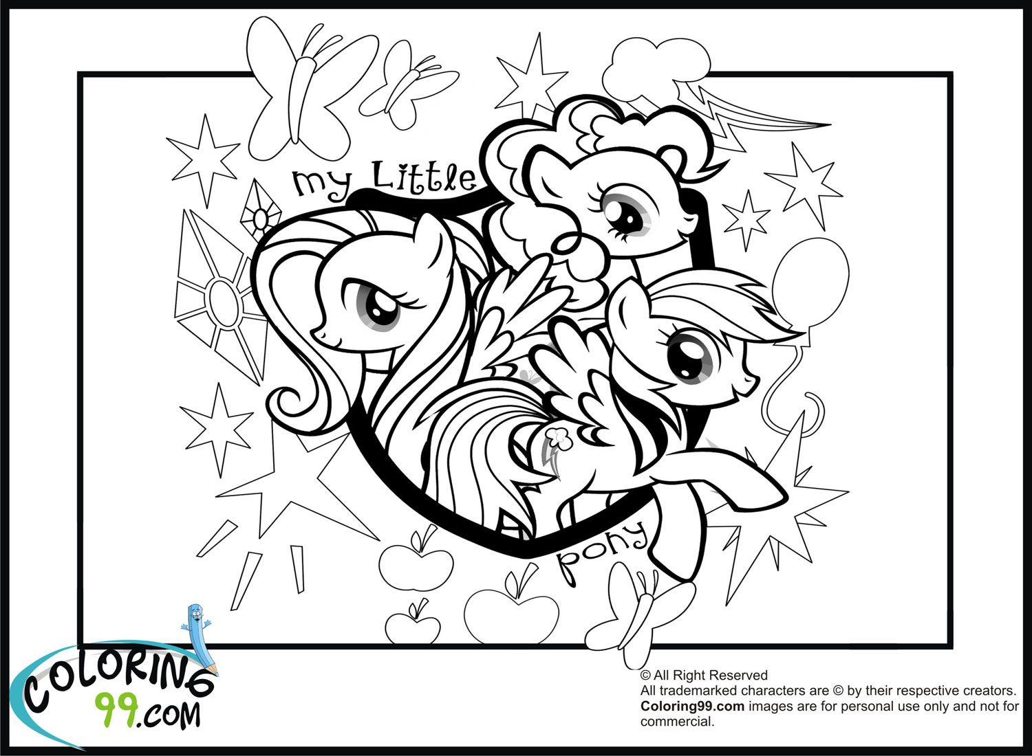 My little pony friendship magic coloring pages print - My Little Pony Coloring Pages To Print Jpg