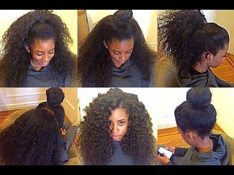 2 Part Horizontal Versatile Sew In Nyc Curly Hair Sew In Black Hair Wigs Natural Hair Wigs