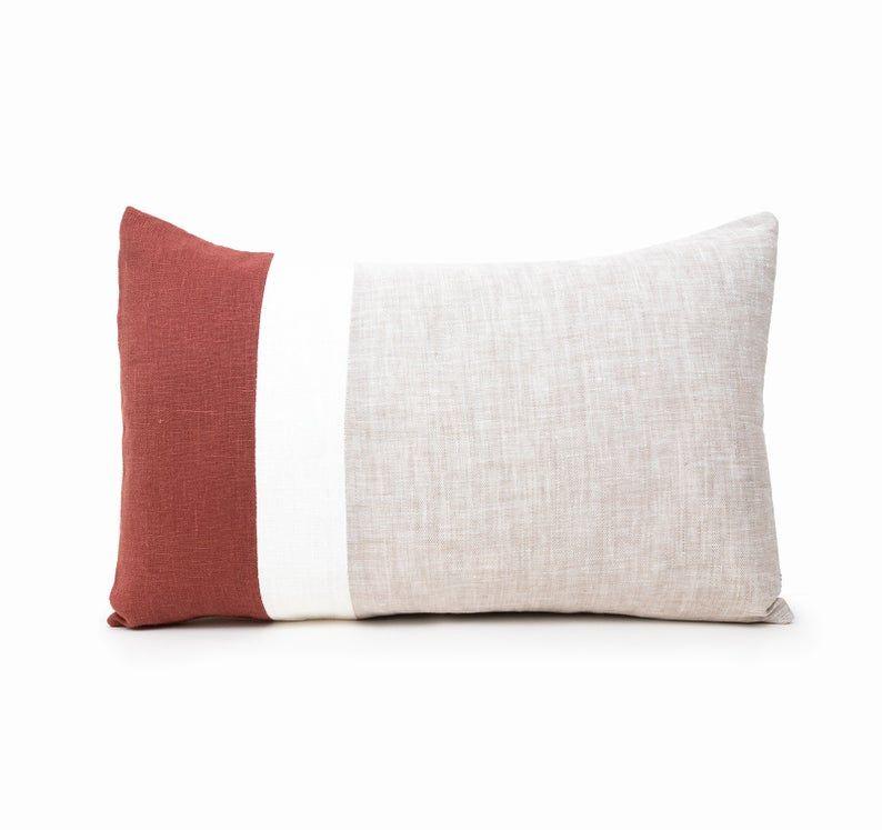 20x26 Pillow Covers Lumbar Throw Pillow Cover Rust Cushion Etsy In 2020 Handmade Cushion Covers Lumbar Throw Pillow Throw Pillows