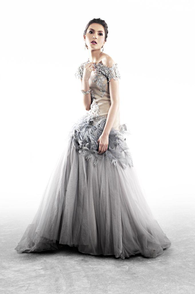 Grey and gauzy by Filipino designer Francis Libiran | Fashion ...
