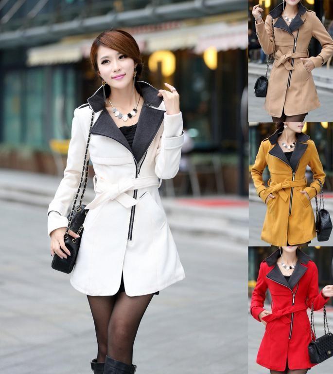 Plaszcz Damski Jesienny Japan Style Kurtka M42 Trench Coats Women Casual Dresses For Women Long Wool Coat