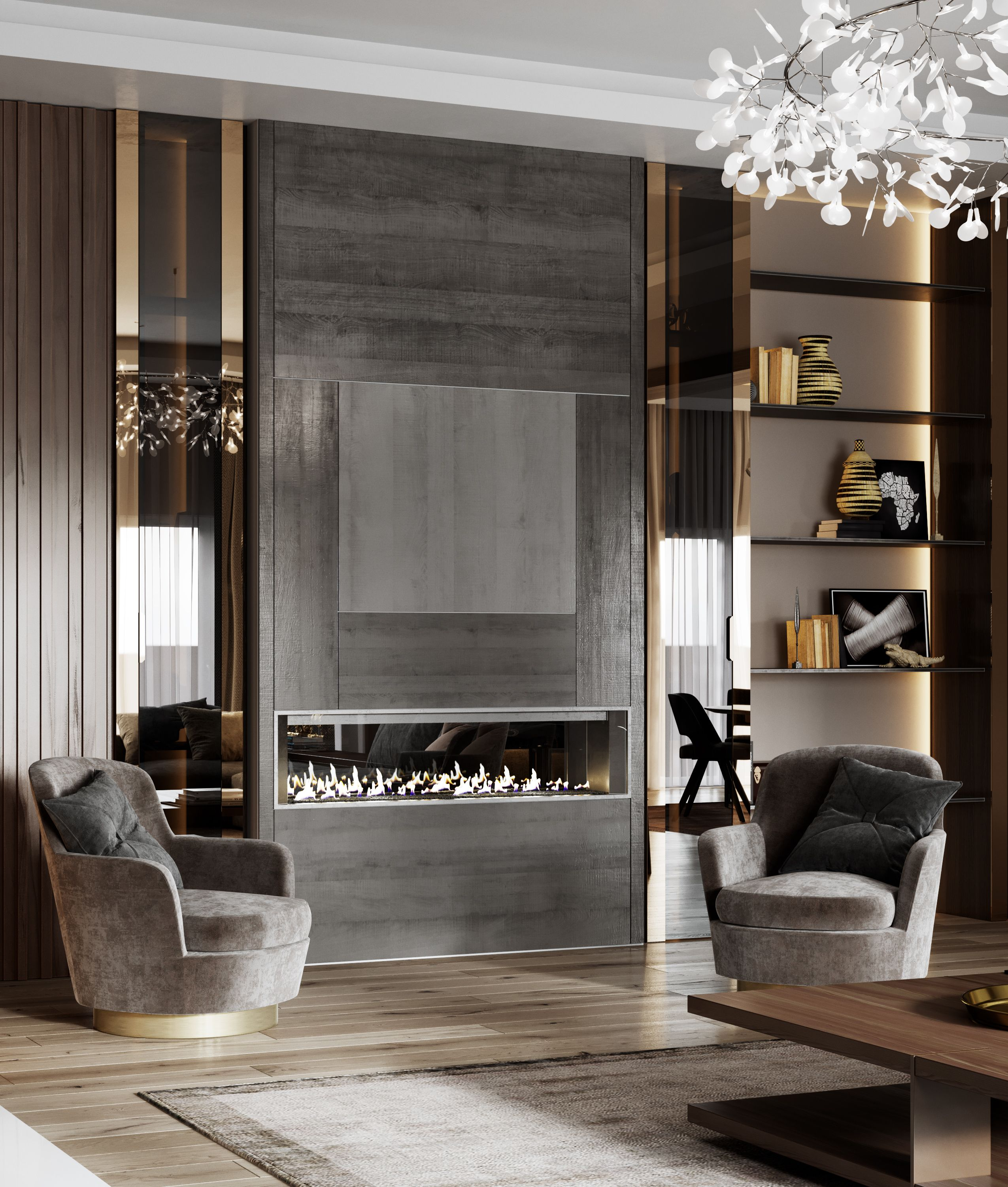 Luxury Homes Interior Decoration Living Room Designs Ideas: CGI:House Project In Canada On Behance