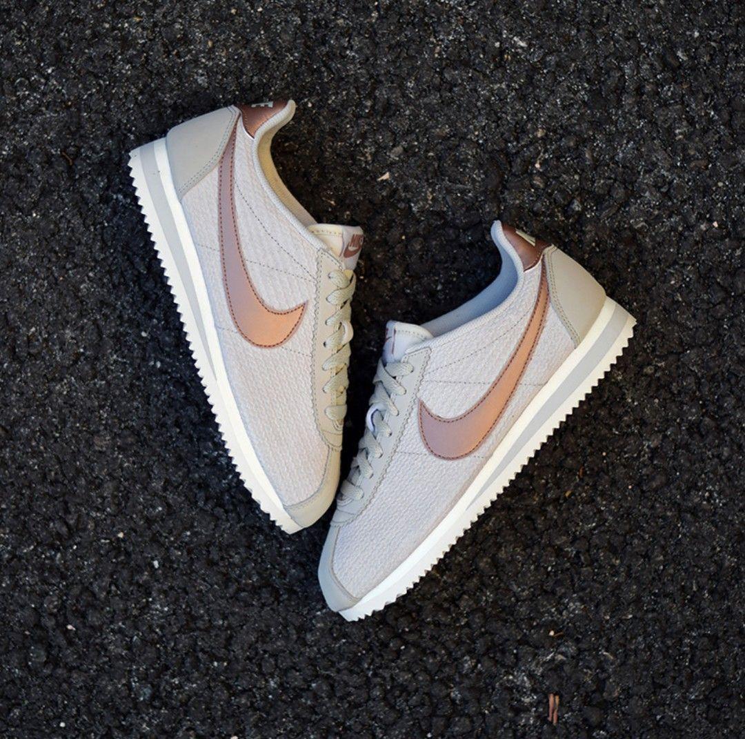 My sneakers 👟 nike cortez leather lux beige