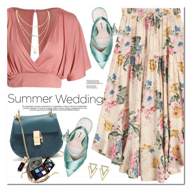 """""""Say I Do: Summer Weddings"""" by oshint ❤ liked on Polyvore featuring Chloé and Miu Miu"""