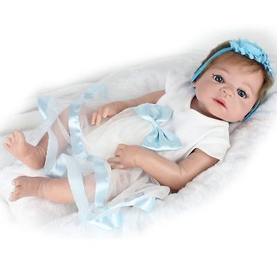 "Lifelike Hand made 22"" Newborn Baby Dolls Full Silicone Vinyl Reborn Doll Girl https://t.co/2FuTIQMJ5Z https://t.co/gIFvOlQQHp"