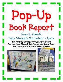 creative book report templates pdf