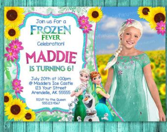 Frozen Fever Birthday Invitation Frozen By