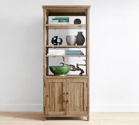 """Parker 33"""" x 78"""" Reclaimed Wood Bookcase 