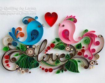 Quilling arte pared papel quilling arte papel por QuillingbyLarisa
