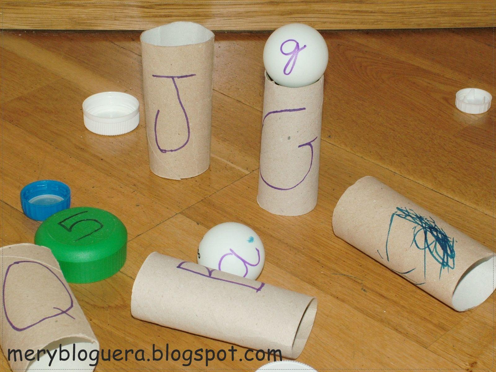 Manualidad Con Rollos De Papel Higiénico Crea Este Juego Para Que Aprendan Las Letras