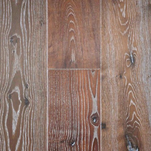White Wash Stain On Maple: Wide Plank Engineered Brushed/Washed/Oiled Alsace White