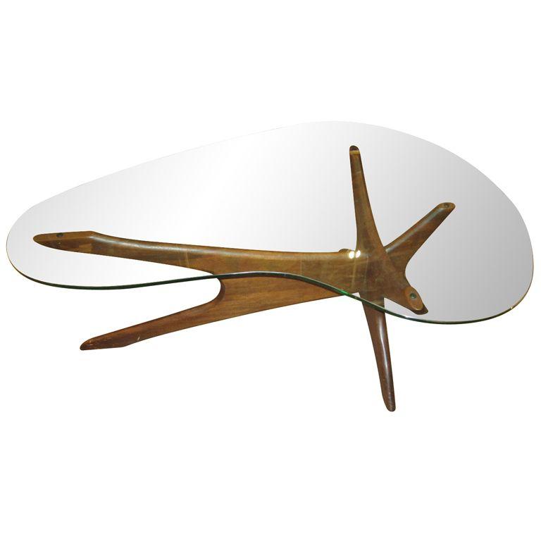4ec58538de66 Amoeba Shaped Coffee Table by Adrian Pearsall