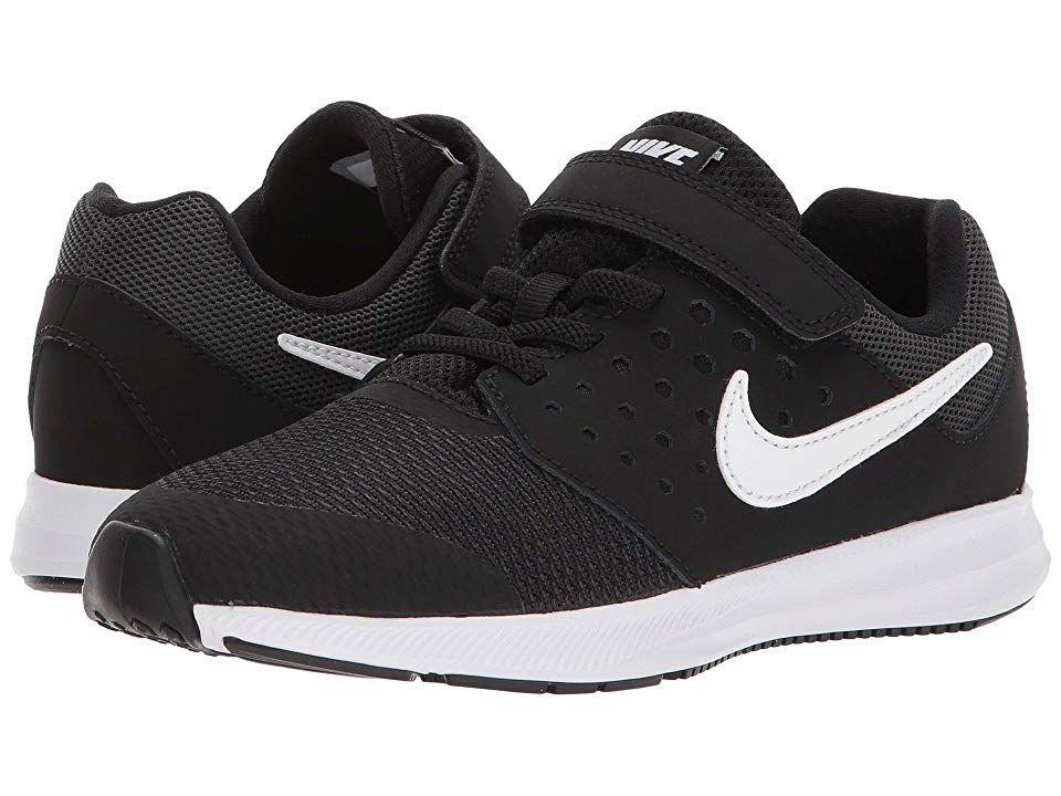 d0c9d0186a80e Nike Kids Downshifter 7 (Little Kid) Boys Shoes Black White Anthracite 1