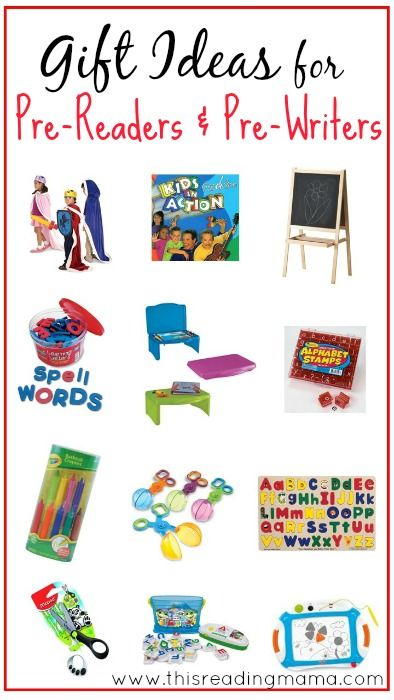 Gift Ideas For Pre Readers And Pre Writers Gifts For