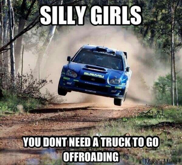 Subaru WRX STi Rally | Cagers | Truck memes, Subaru rally