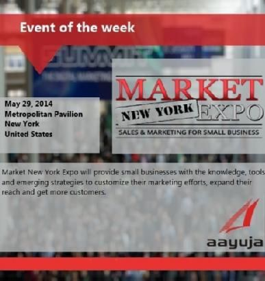 Event of the Week! New York Market Expo, May 29, 2014, New York