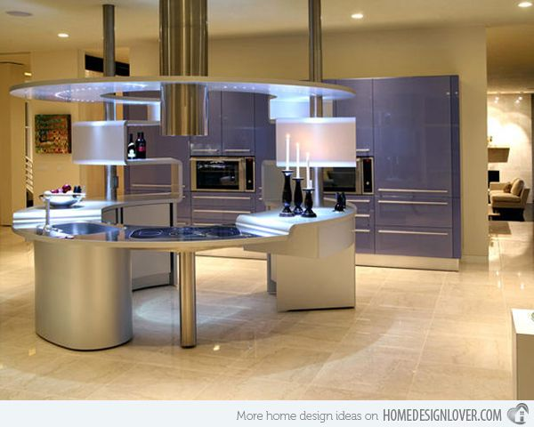 15 Unique And Modern Kitchen Island Designs Home Design Lover Futuristic Kitchen Design Modern Kitchen Island Design Modern Kitchen Design