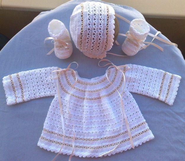 Ganchillo bebé: Patrones de ropita para los peques [FOTOS ...