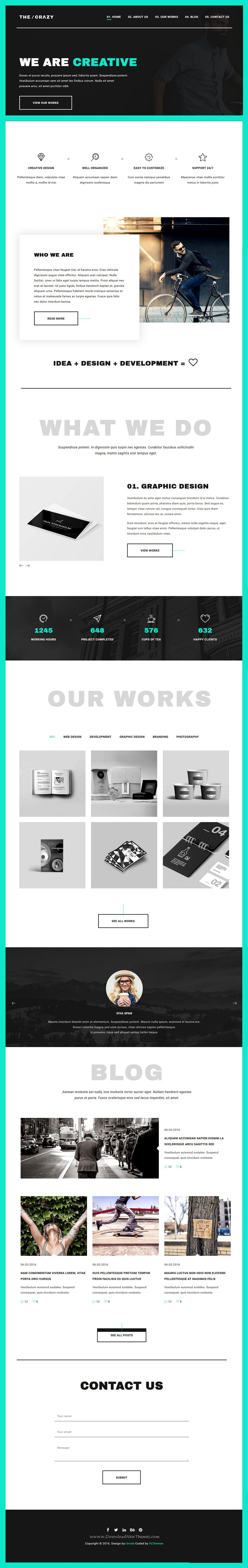 The Crazy Is Modern Beautiful And Colorful Bootstrap Html5 Template