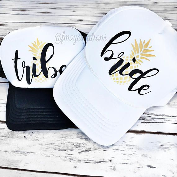 64f14c59959a3 Rock with your Bride TRIBE in style with our super cute and custom Bachelorette  Party Pineapple Trucker Hats. All eyes will be on you and your girls in ...