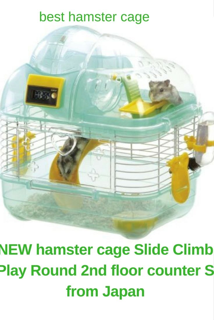 Best Hamster Cage Hamster House New Hamster Cage Slide Climb Play Round 2nd Floor Counter S From Japan Cool Hamster Cages Hamster Hamster Cage