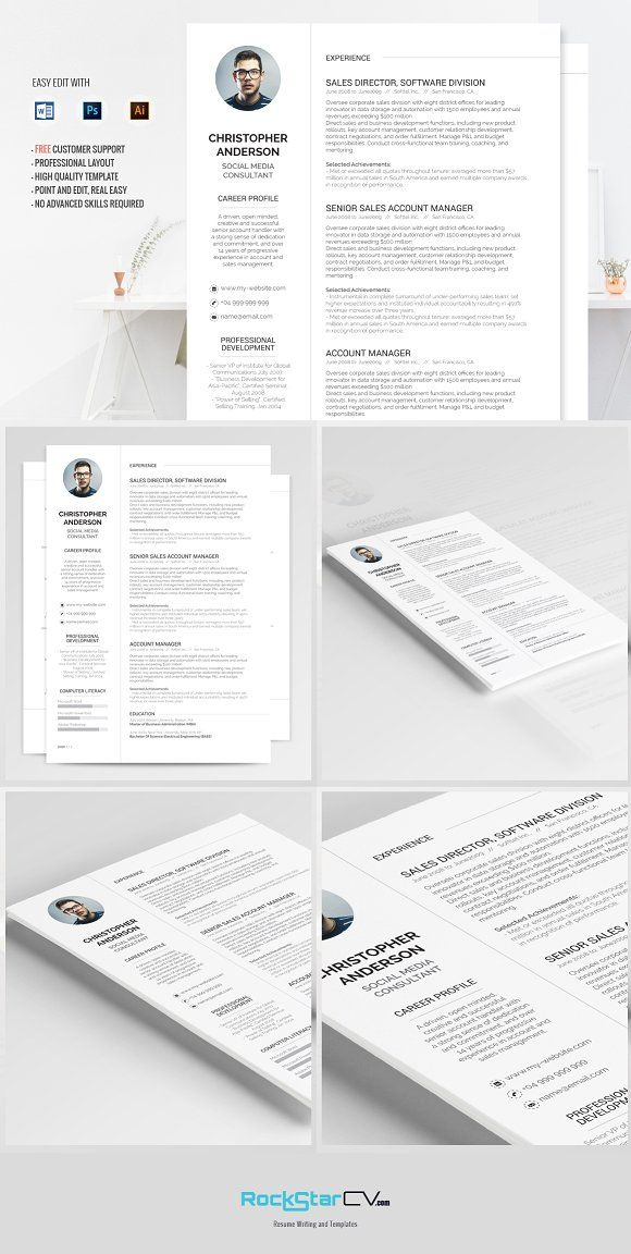 Resume Template Synnove Template and Cv template