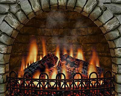 A roaring fire!