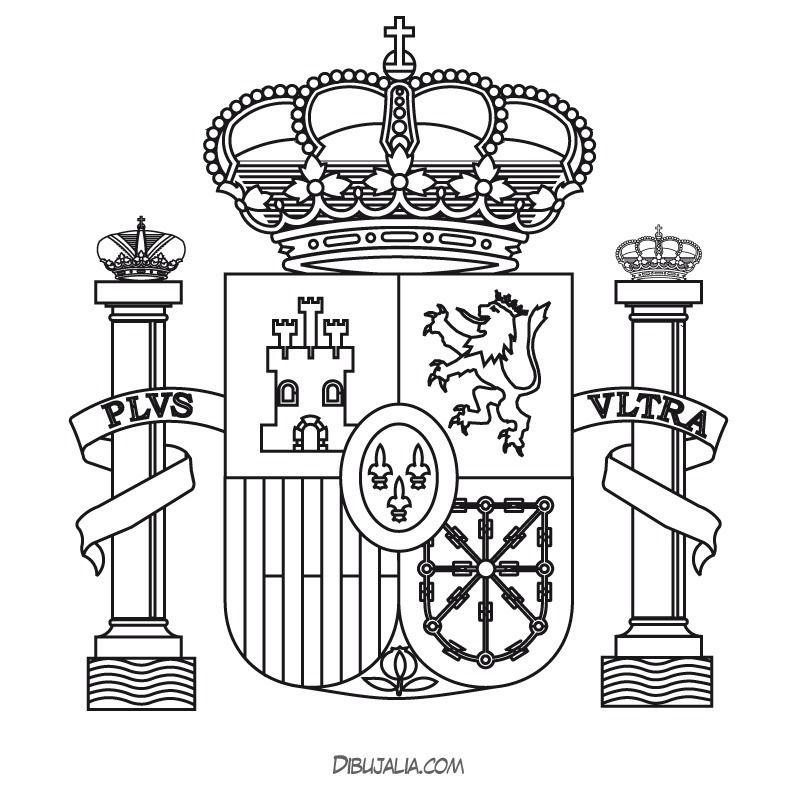 Escudo De Espana Para Colorear E Imprimir Con Imagenes