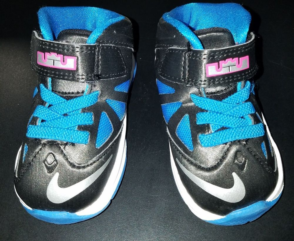 new concept 9a1d3 0e36e NIKE LEBRON JAMES TODDLER PINK Blue SOLDIER VII 7 Baby Infant Size 4c Shoes   fashion  clothing  shoes  accessories  babytoddlerclothing  babyshoes  (ebay ...