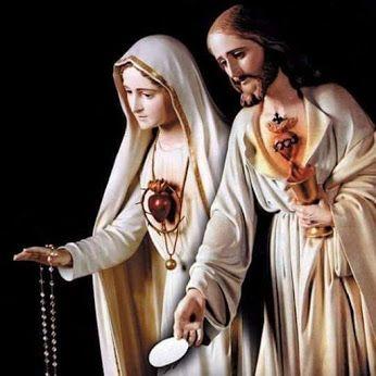 Corazones Unidos de Jesús y María. | De jesus, Imagen virgen maria ...